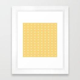 Minimal Butterfly Pattern - Yellow Framed Art Print
