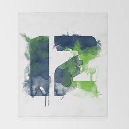 12th man Throw Blanket
