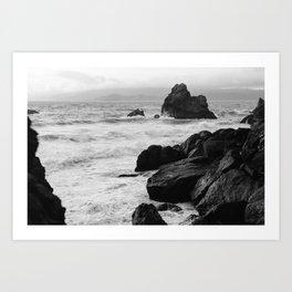 View from Sutro Baths - California Art Print