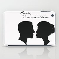 jane eyre iPad Cases featuring Jane Eyre: Reader, I married him by AfterThisChapter