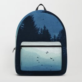 Blue Valmalenco - Misty Blue Mountains Backpack