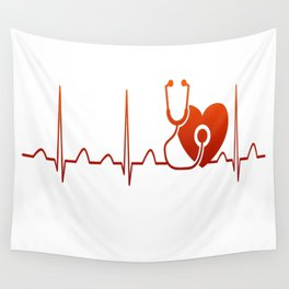 DOCTOR HEARTBEAT Wall Tapestry