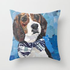 Earl the Hound Pup Throw Pillow
