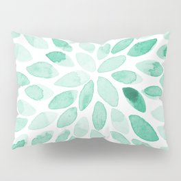 Watercolor brush strokes - aqua Pillow Sham