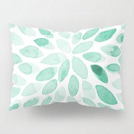 Watercolor brush strokes - aqua Pillow Sham