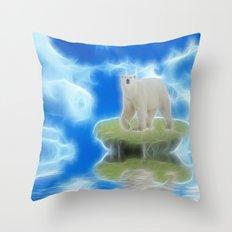 Melting Polar Ice  Throw Pillow