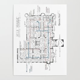 Haunting of Hill House Blueprint Poster