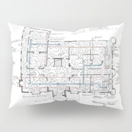 Haunting of Hill House Blueprint Pillow Sham