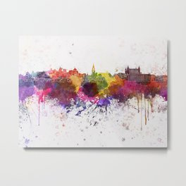 Toledo skyline in watercolor background Metal Print