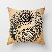 yin yang Throw Pillows featuring Yin Yang by Jenndalyn