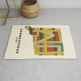 Connecticut state map modern Rug