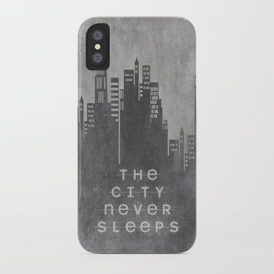 The City Never Sleeps iPhone Case