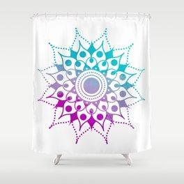 Mandala #2 (Purple Pink Turquiose) Shower Curtain