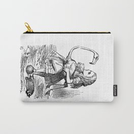 Vintage Alice in Wonderland flamingo croquet antique book drawing emo goth illustration art print  Carry-All Pouch