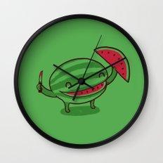 A Happy Slice of Life Wall Clock