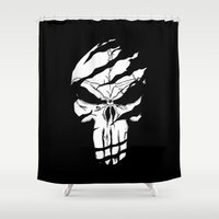 punisher Shower Curtains featuring Punisher by Spectral stories