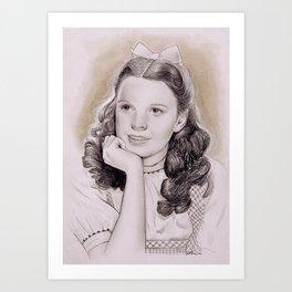 Judy Garland as Dorothy Gale Art Print