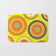 Beads and circles- aboriginal pattern Bath Mat