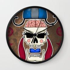Skater Skull by RonkyTonk Roller Derby Wall Clock