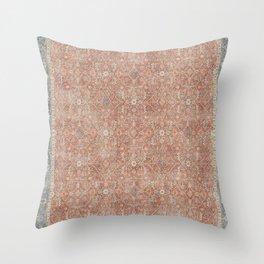 Distressed Celestine Coral Throw Pillow