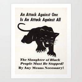 Black Panther Political Party -FTP Art Print