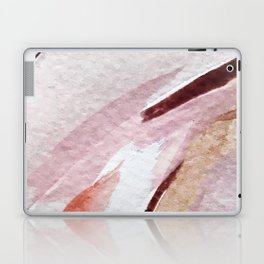 Away [2]: an abstract mixed media piece in pinks and reds Laptop & iPad Skin