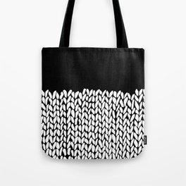 Half Knit  Black Tote Bag