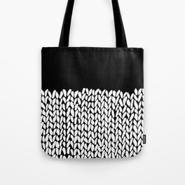 Half Knit  Black Tote Bag
