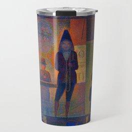 """Georges Seurat """"Circus Sideshow (Parade de cirque)"""" Travel Mug"""