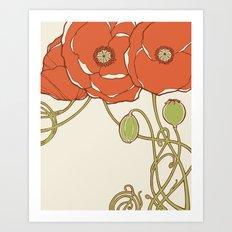 Graphic Poppies Art Print