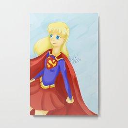 Super Girl Metal Print