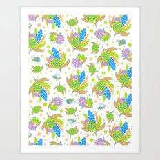 Picnic Pals bouquet in citrus Art Print