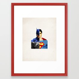 Polygon Heroes - VS Framed Art Print