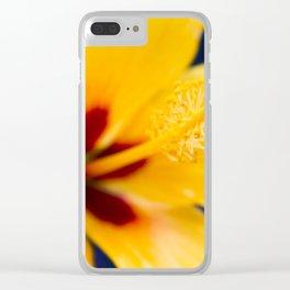 Hibiscus Lemon Drop Tropical Fancy Flowers Clear iPhone Case