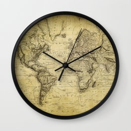 World Map 1814 Wall Clock