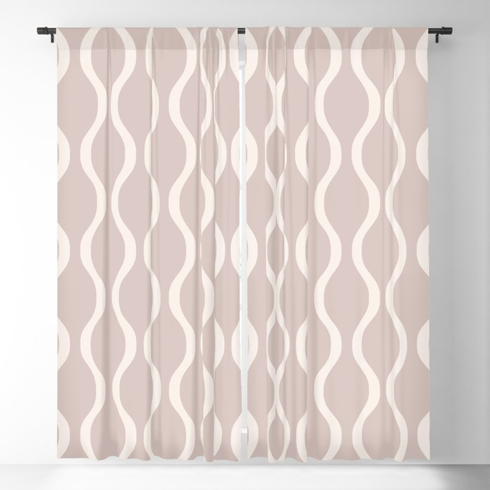 Classic Retro Ogee Pattern 732 Beige Blackout Curtain