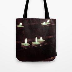 split toning candels Tote Bag