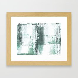 Gray green stained watercolor texture Framed Art Print