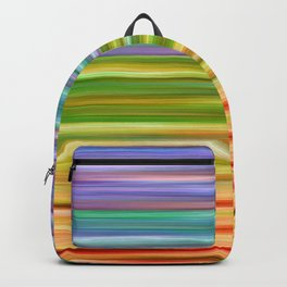 RAINBOW FLOW, PRIDE COLORFUL OMBRE HAPPY ABSTRACT PAINTING LGBTQ+ BY EBI EMPORIUM Backpack