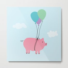 When Pigs Can Fly Metal Print