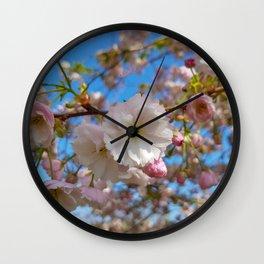 Cherry Blossoms at Kew Gardens Wall Clock