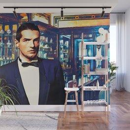 Falco at the Cafe Wall Mural