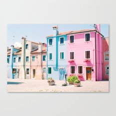 Colorful houses in Burano Canvas Print