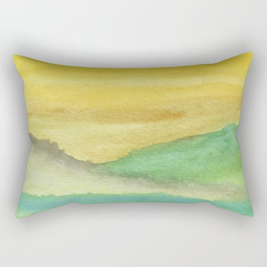 Watercolor abstract landscape 06 Rectangular Pillow