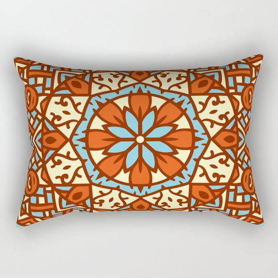 Abstract Mandala Flower Decoration 30 Rectangular Pillow