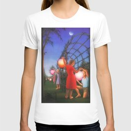 Classical Magic Realism Masterpiece 'Garden Party' by George Tooker T-shirt