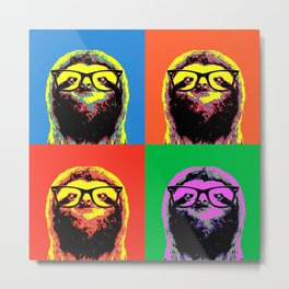 Four colors Sloth Metal Print
