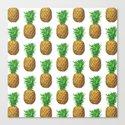 Pineapples, tropical fruit pattern design by katerinamitkova