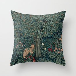 William Morris Greenery Tapestry Pt 2 Throw Pillow