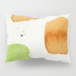 Orange and Green Abstract Art Pillow Sham